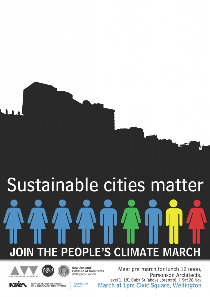 climate march poster-blue