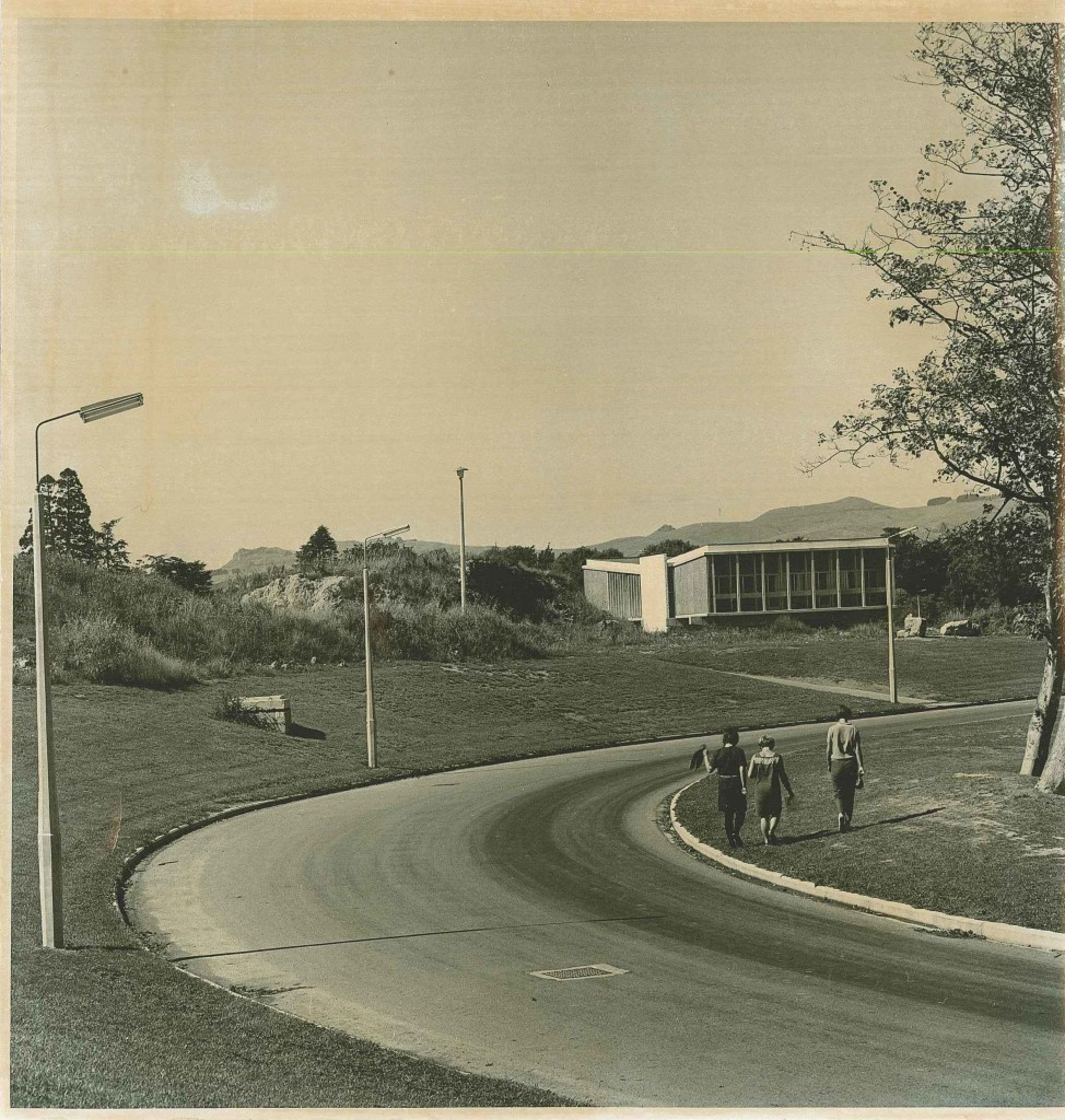 Completed Computer Centre view from University Drive - 1968